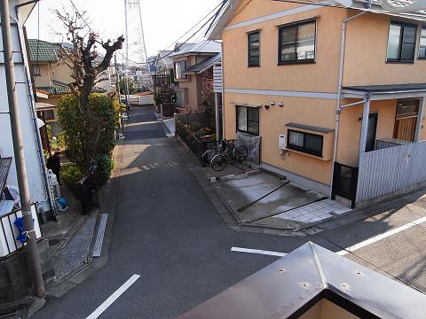 目黒区柿の木坂2丁目 戸建て 2階 洋室1 バルコニー 眺望