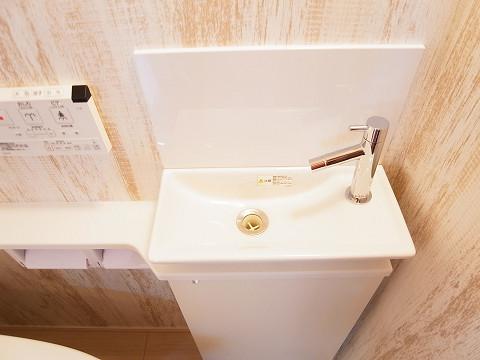 世田谷区梅丘2丁目A号棟 戸建 トイレ2 手洗い